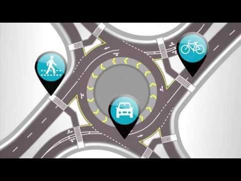 roundabout graphic visualization from video